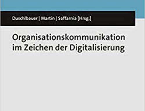 NEUERSCHEINUNG Organisationskommunikation im Zeichen der Digitalisierung